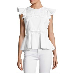 NWT $168 Rebecca Minkoff Betty Eyelet Lace Top
